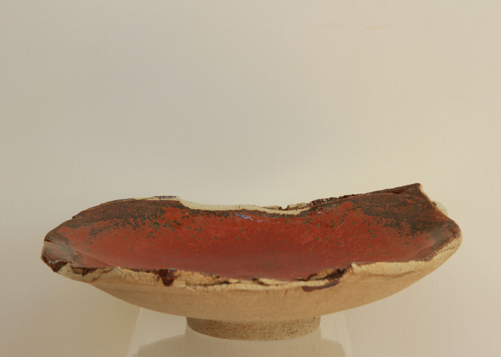 Fruit dish, red glaze 2